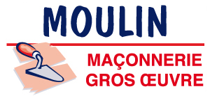 Moulin Maçonnerie Gros oeuvre Logo
